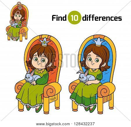 Find Differences, Princess Seated On A Throne