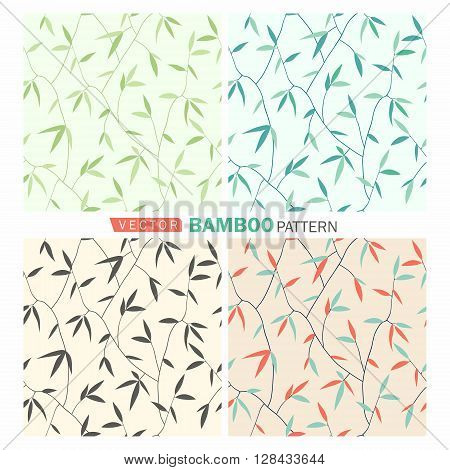 Vector tropical seamless nature pattern.Summer pattern with bamboo