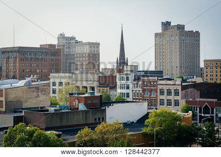 View Of Buildings In Downtown Reading, Pennsylvania.