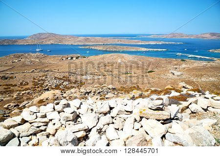 Famous   In Delos Greece The Historycal Acropolis And