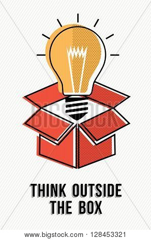Think Outside The Box Powerful Ideas Concept