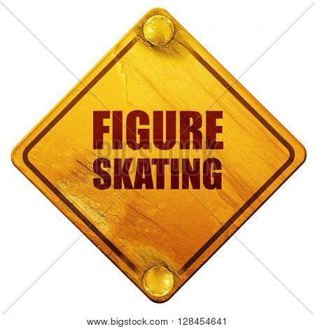 figure skating sign background, 3D rendering, isolated grunge ye