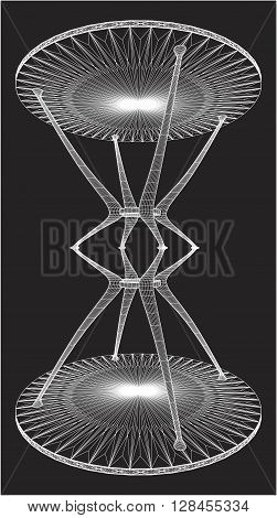 Abstract Hourglass Table Structure Illustration Isolated Vector