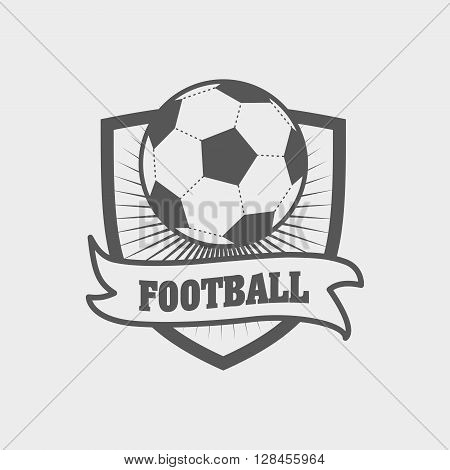 Football Logo, Label Or Emblem Template With Ball On Shield