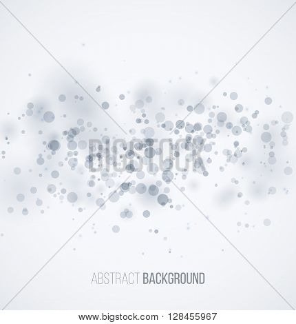 Blue circle sparkles on white blur background. Vector illustration