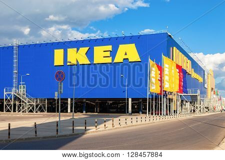 SAMARA RUSSIA - SEPTEMBER 9 2013: IKEA Samara Store. IKEA is the world's largest furniture retailer and sells ready to assemble furniture