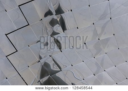 Detail of The Philharmonie of Paris, France