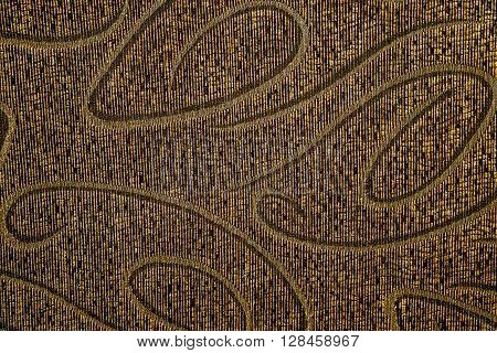 Old Ornamental Textured Dark Brown Embroideryered Cloth Texture