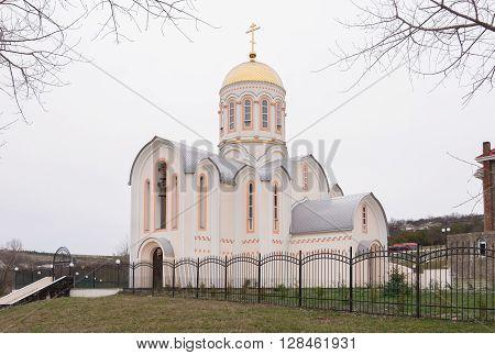 Varvarovka, Russia - March 15, 2016: Side View Of The Church Of Great Martyr Barbara In Varvarovka V