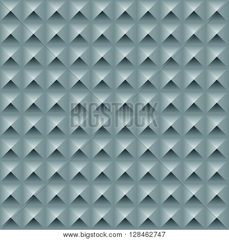 Abstract Geometric Texture With Structure Of Repeating Boxes With Optical Illusion - Vector Seamless