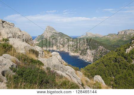 Landscape in Formentor peninsula on Majorca island, Spain