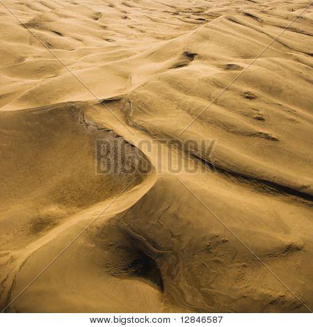 Paisagem aérea de dunas de areia em Great Sand Dunes National Park, Colorado.