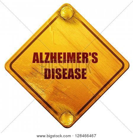 Alzheimer's disease background, 3D rendering, isolated grunge ye