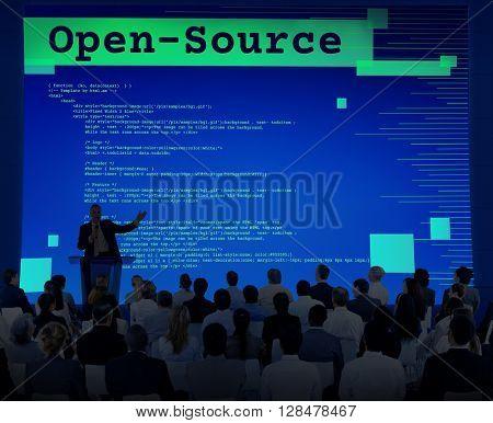 Open-Source Access Coding Source Technology Concept