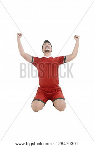 Winning Football Player