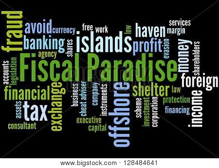 Fiscal Paradise, Word Cloud Concept 6