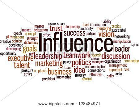 Influence, Word Cloud Concept 7