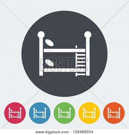 Bunk bed icon. Flat vector related icon for web and mobile applications. It can be used as - logo, pictogram, icon, infographic element. Vector Illustration.