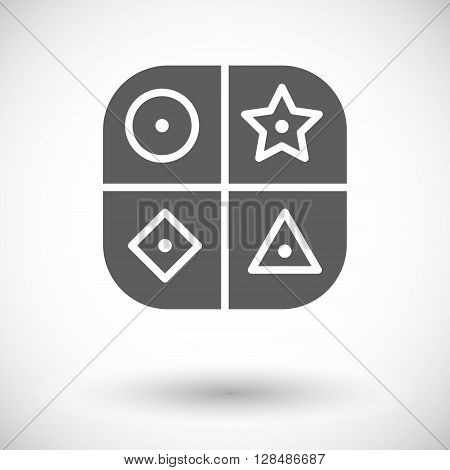 Sorter educational toy icon. Flat vector related icon for web and mobile applications. It can be used as - logo, pictogram, icon, infographic element. Vector Illustration.