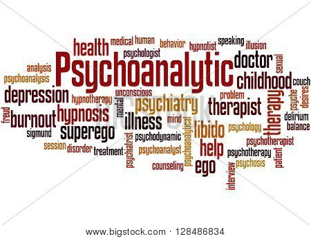 Psychoanalytic, Word Cloud Concept 4