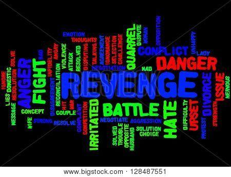 Revenge, Word Cloud Concept