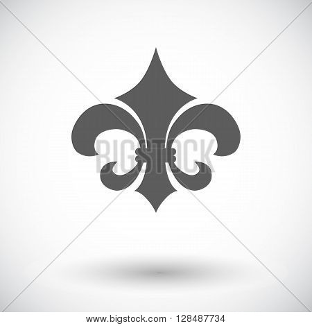 Fleur. Single flat icon on white background. Vector illustration.