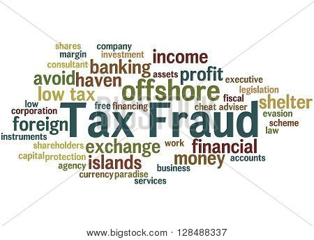 Tax Fraud, Word Cloud Concept 10