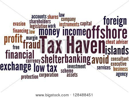 Tax Haven, Word Cloud Concept 3