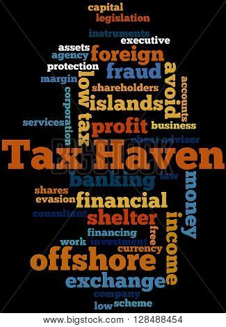 Tax Haven, Word Cloud Concept 4