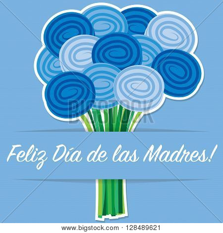 Spanish Rose Mother's Day Card In Vector Format.
