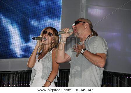 Russian pop star, singer Vladimir Presnyakov and Natalia Podolskaya