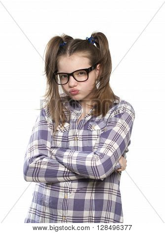 The Angry Girl In A Plaid Shirt..