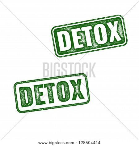 Detox Rubber Stamp Isolated On White Background