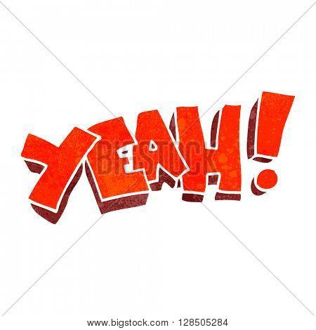 yeah! freehand retro cartoon shout