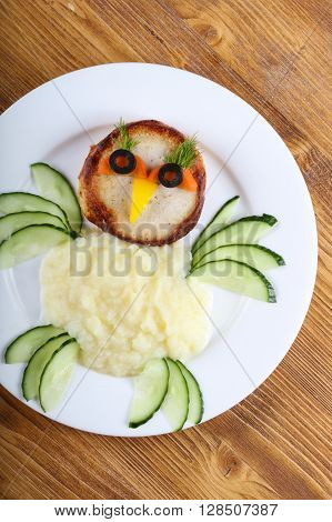 Kids Style Cutlet With Mushed Potato