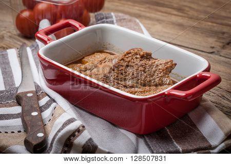 Braised Pork In Gravy.