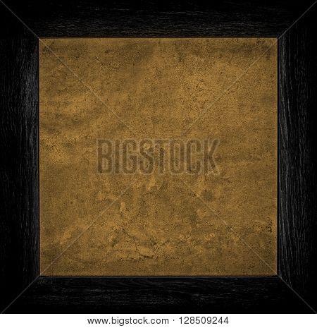 Dark Orange Grunge Canvas With Wood Frame