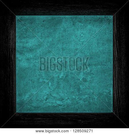 Dark Blue Grunge Canvas With Wood Frame