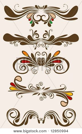 Beauty vector floral pattern for design. Abstract signs for background.