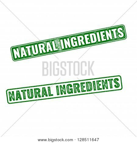 Realistic Vector Natural Ingredients Rubber Stamp