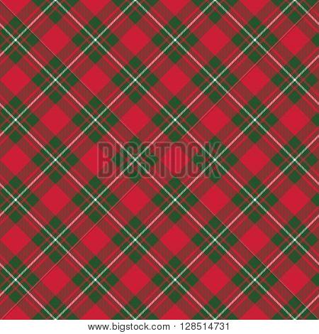 Macgregor tartan kilt fabric textile diagonal seamless background.Vector illustration. EPS 10. No transparency. No gradients.