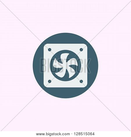 Fan Icon In Vector Format. Premium Quality Fan Symbol. Web Graphic Fan Sign On Blue Circle Backgroun