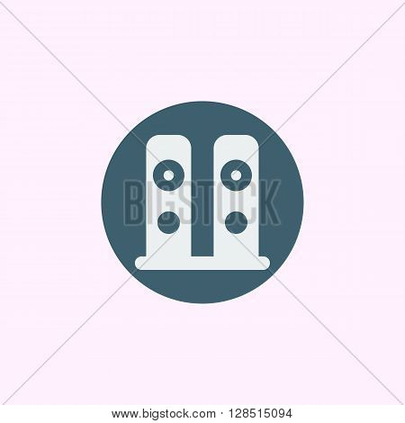 Speakers Icon In Vector Format. Premium Quality Speakers Symbol. Web Graphic Speakers Sign On Blue C