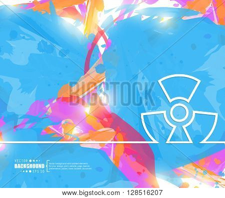 Creative vector radioactively. Art illustration template background. For presentation, layout, brochure, logo, page, print, banner, poster, cover, booklet, business infographic, wallpaper, sign, flyer.