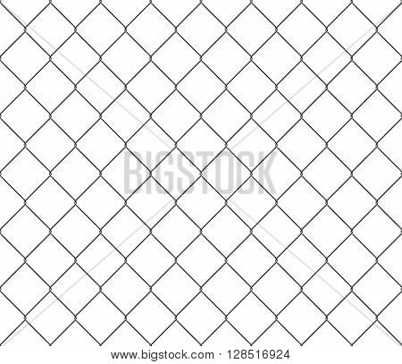 New steel mesh metal fence seamless structure. Vector illustration. EPS 10. No transparency. No gradients. Raw materials are easy to edit.