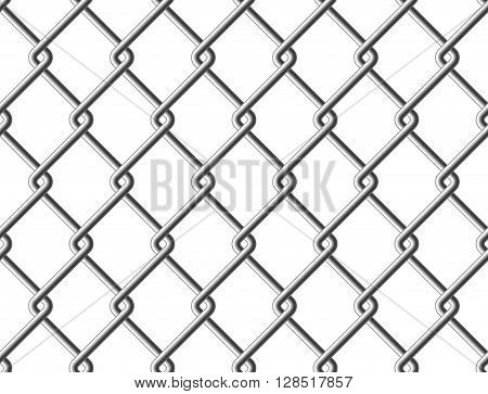 Steel mesh metal fence seamless structure. Vector illustration. EPS 10.