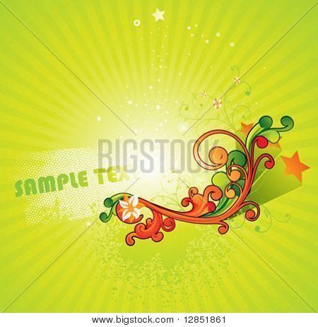 Abstract summer design for beautiful design.