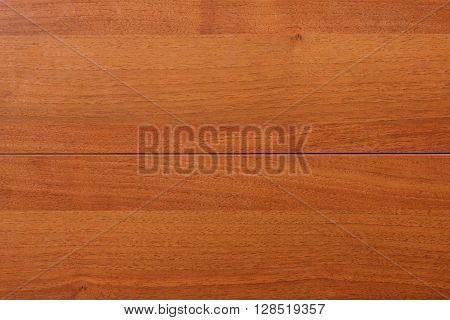 Wood teak texture background. Horizontal stripe closeup