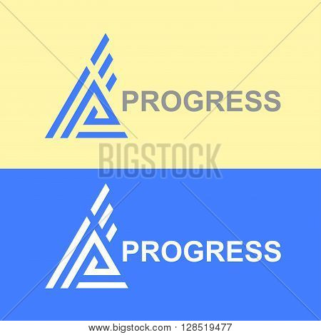 Business Icon - attainment. Vector logo progress design template. Abstract emblem for graphs, seo, success, business. Logo letter A, AA