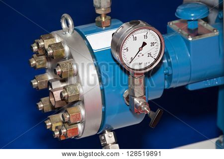 Pipe manometer view for the pressure measurment